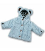 BEARINGTON POSH BEAR COAT BLUE (12-24) Thumbnail