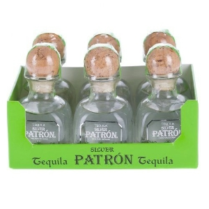 PATRON SILVER TEQUILA 6 PACK 50ML