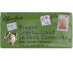 CHOCOLOVE GINGER DARK CHOCOLATE BAR 3.5  Thumbnail